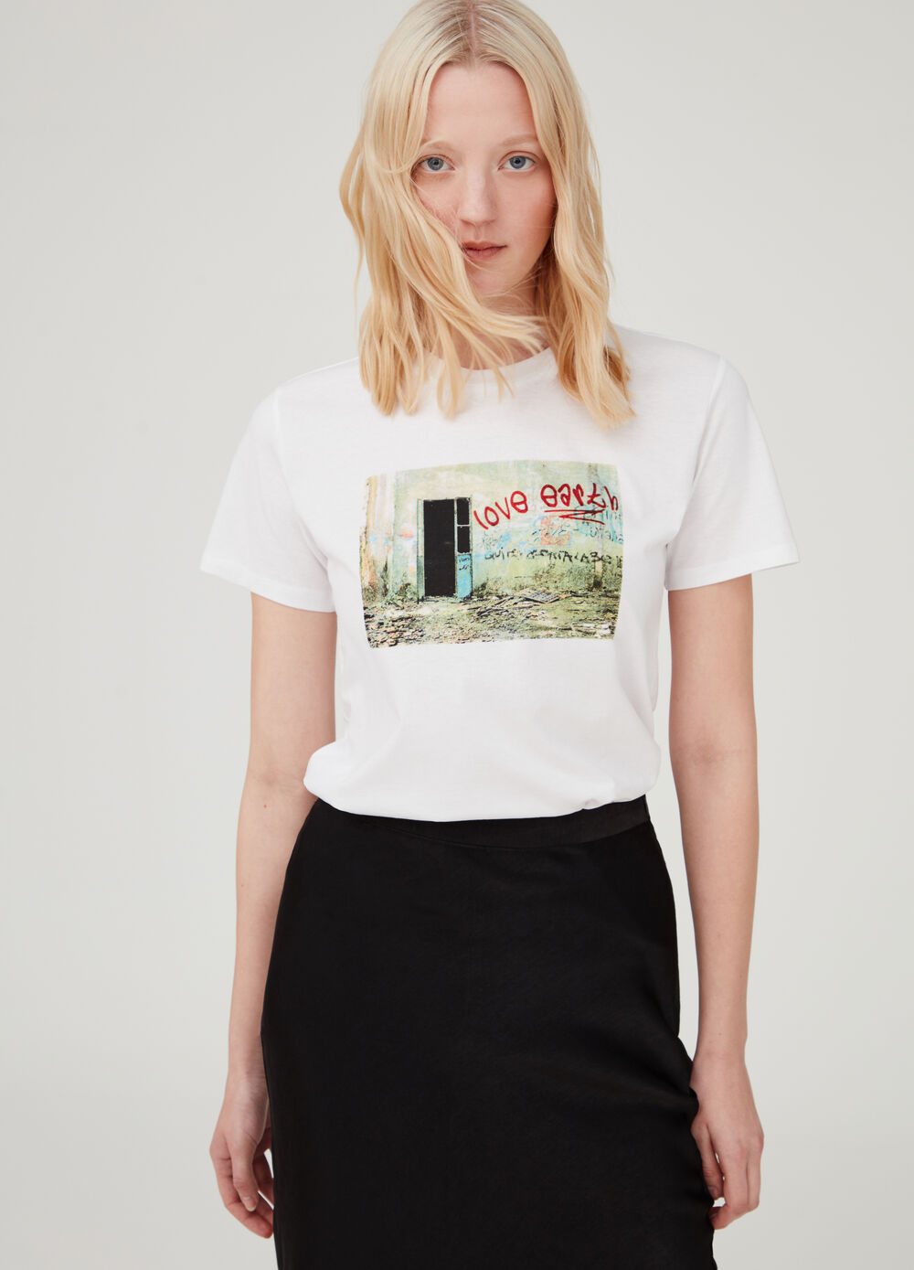 T-shirt in 100% cotton with Earth Day print