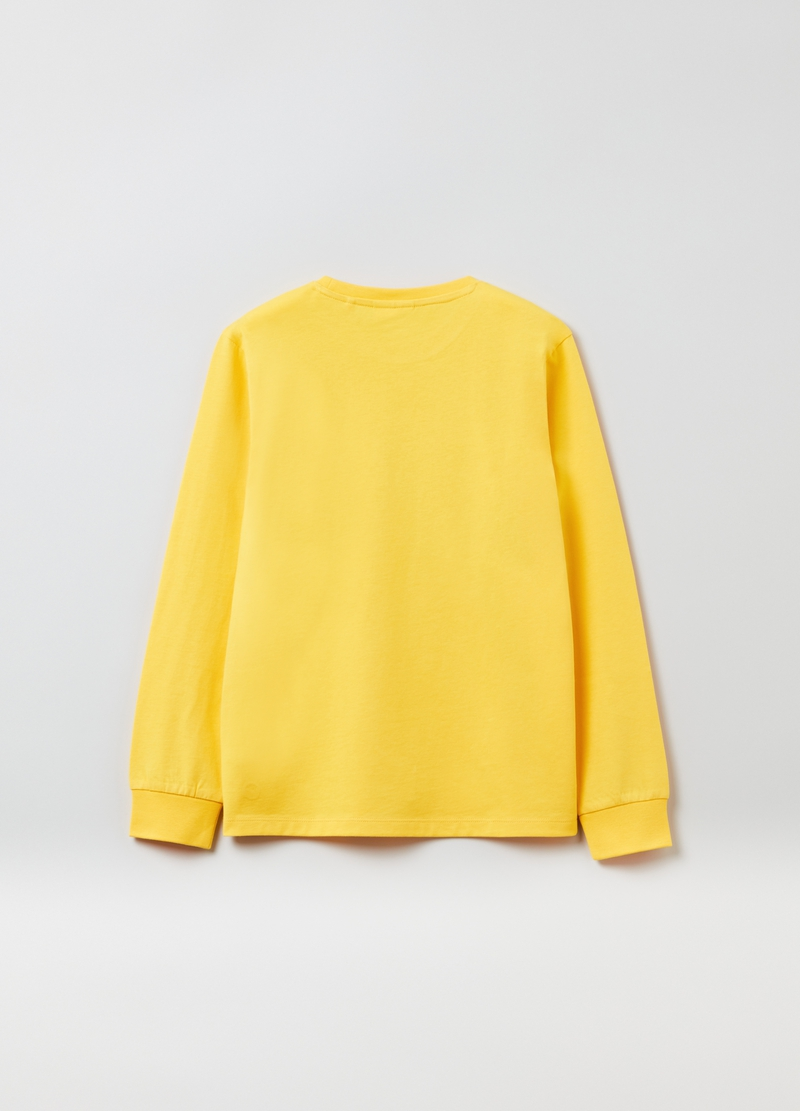 Long-sleeved cotton T-shirt image number null