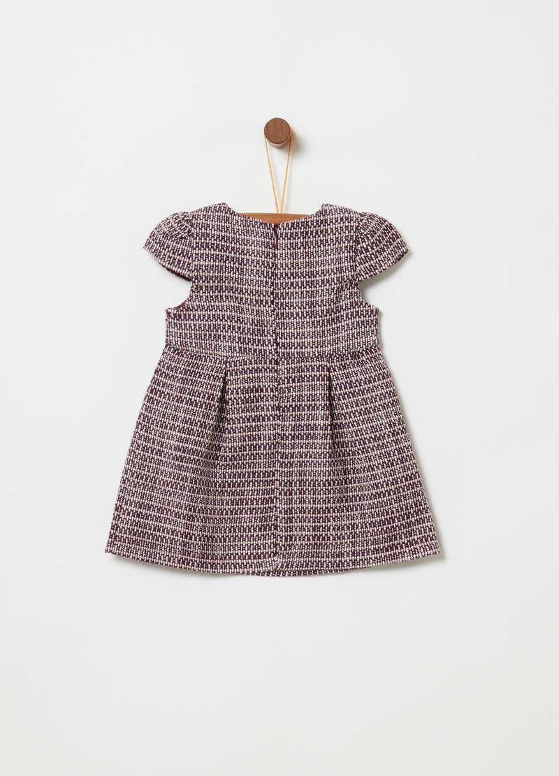 Dress with cap sleeves and zip image number null