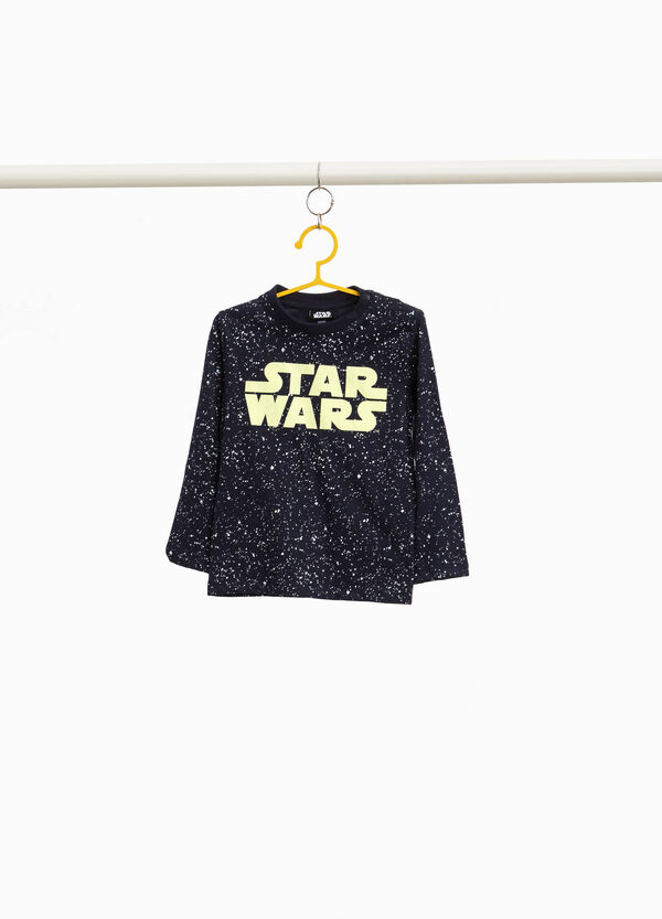 Patterned T-shirt with Star Wars print