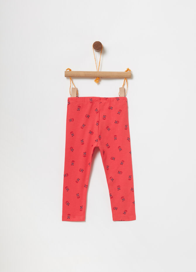 Leggings stretch con coccinelle