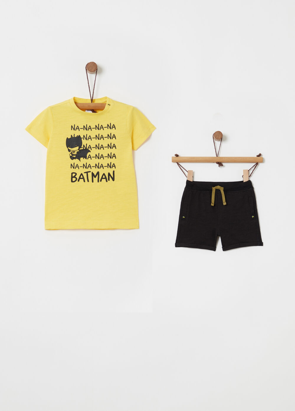 Batman jogging set with T-shirt and trousers