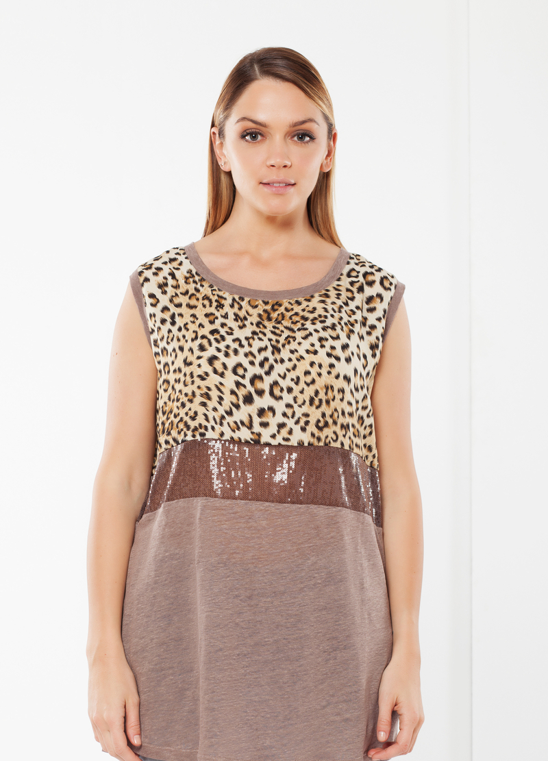 T-shirt Curvy animalier image number null