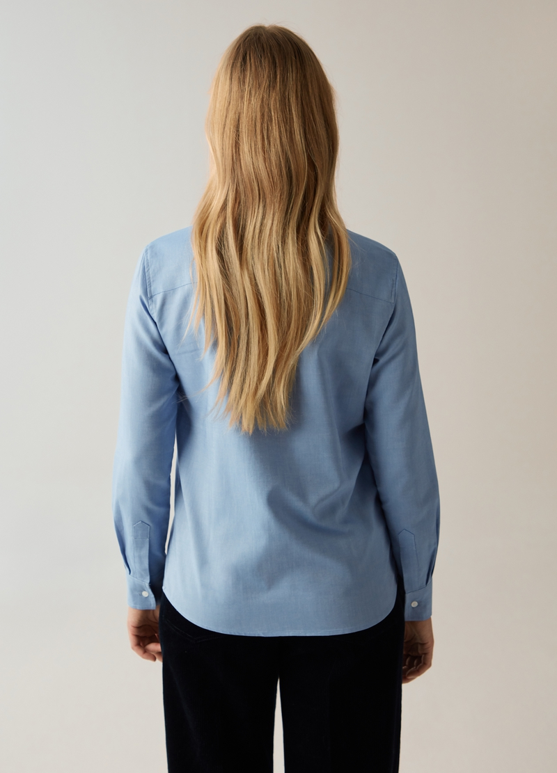 PIOMBO chambray cotton shirt image number null