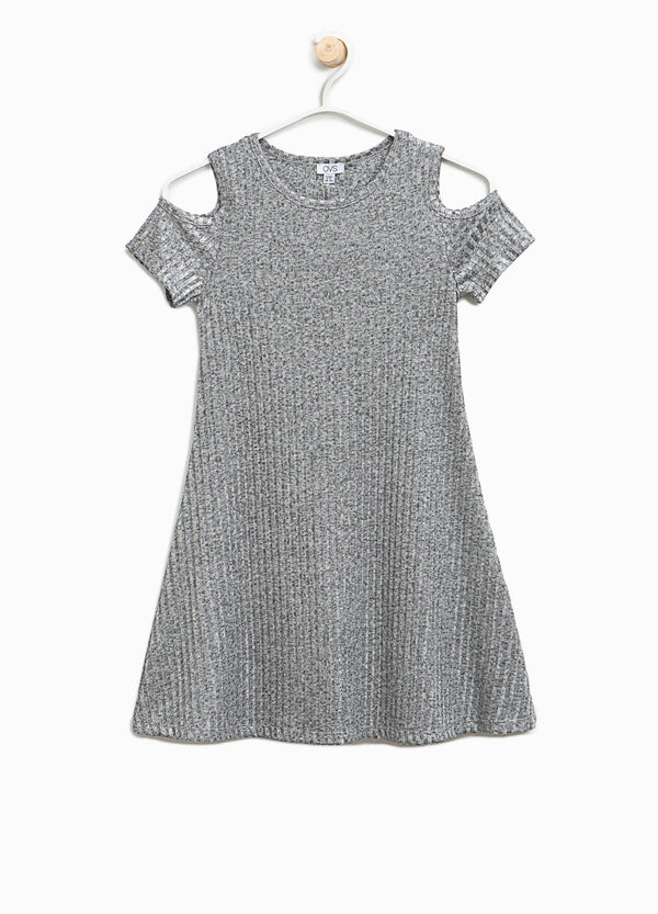 Ribbed dress with openings | OVS
