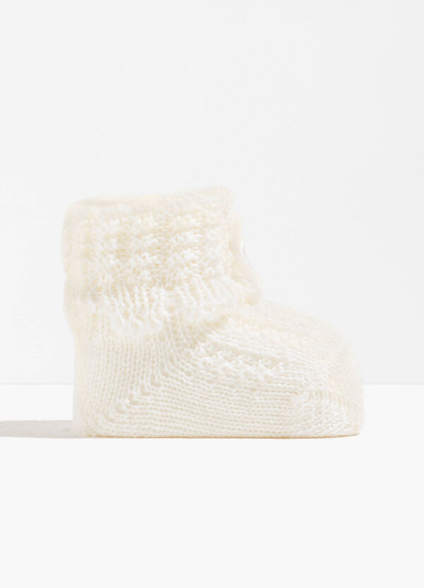 Wool blend knitted shoes