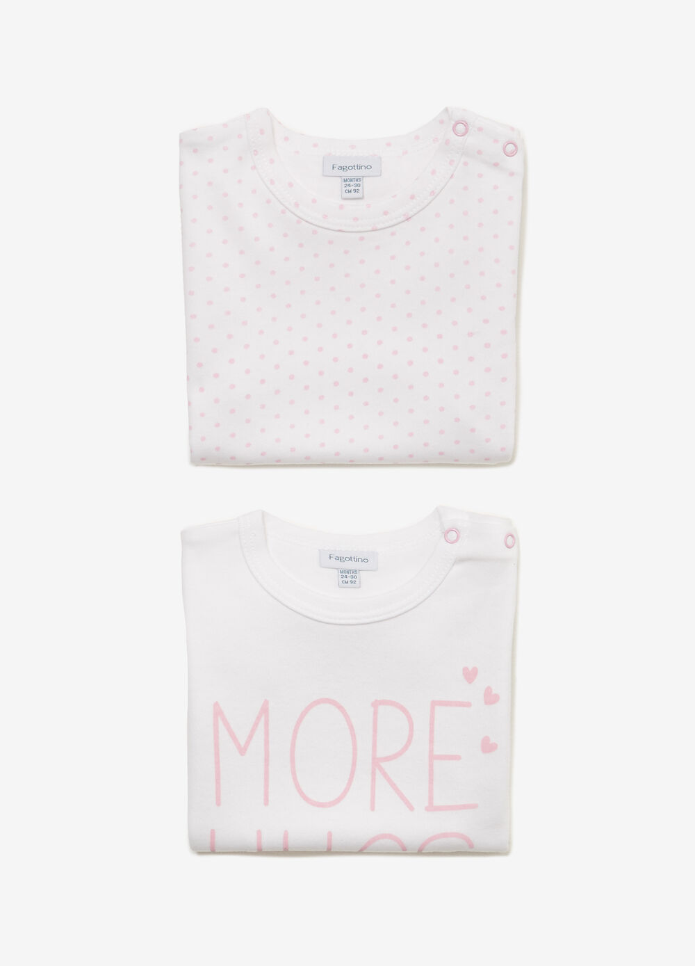 Two-pack printed and polka dot under shirts