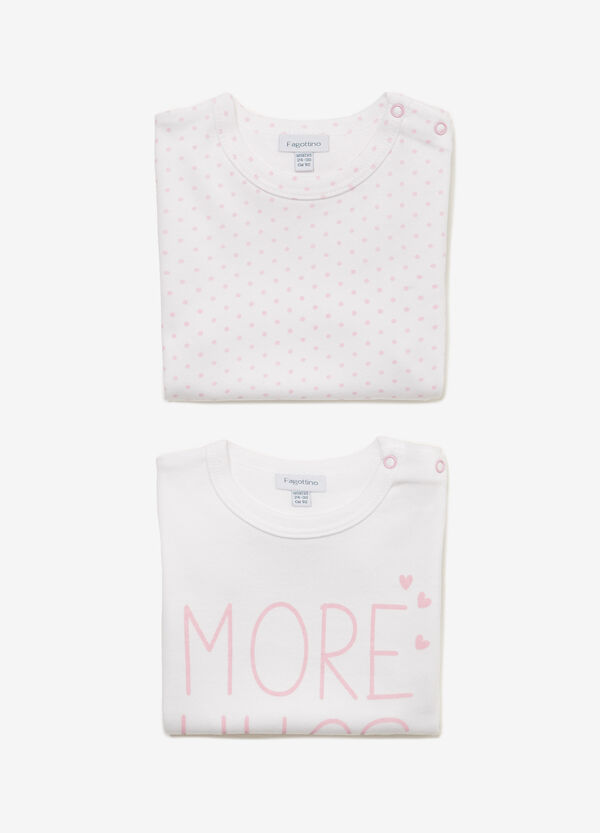Set due t-shirt intime stampa e pois