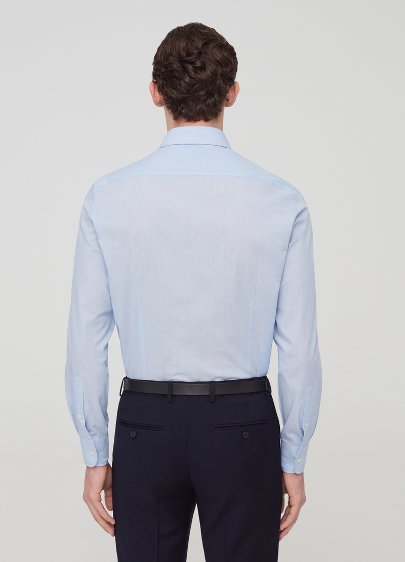 Slim-fit shirt with striped weave image number null