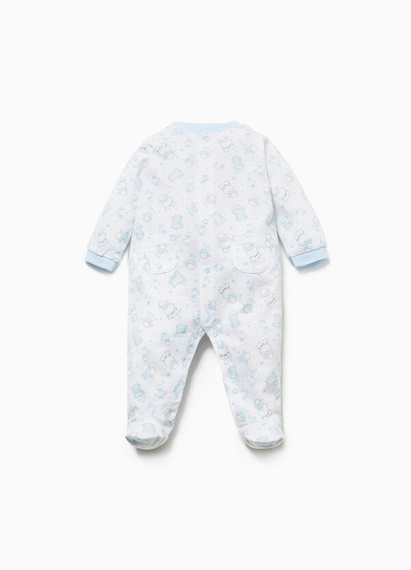Animal patterned 100% cotton onesie