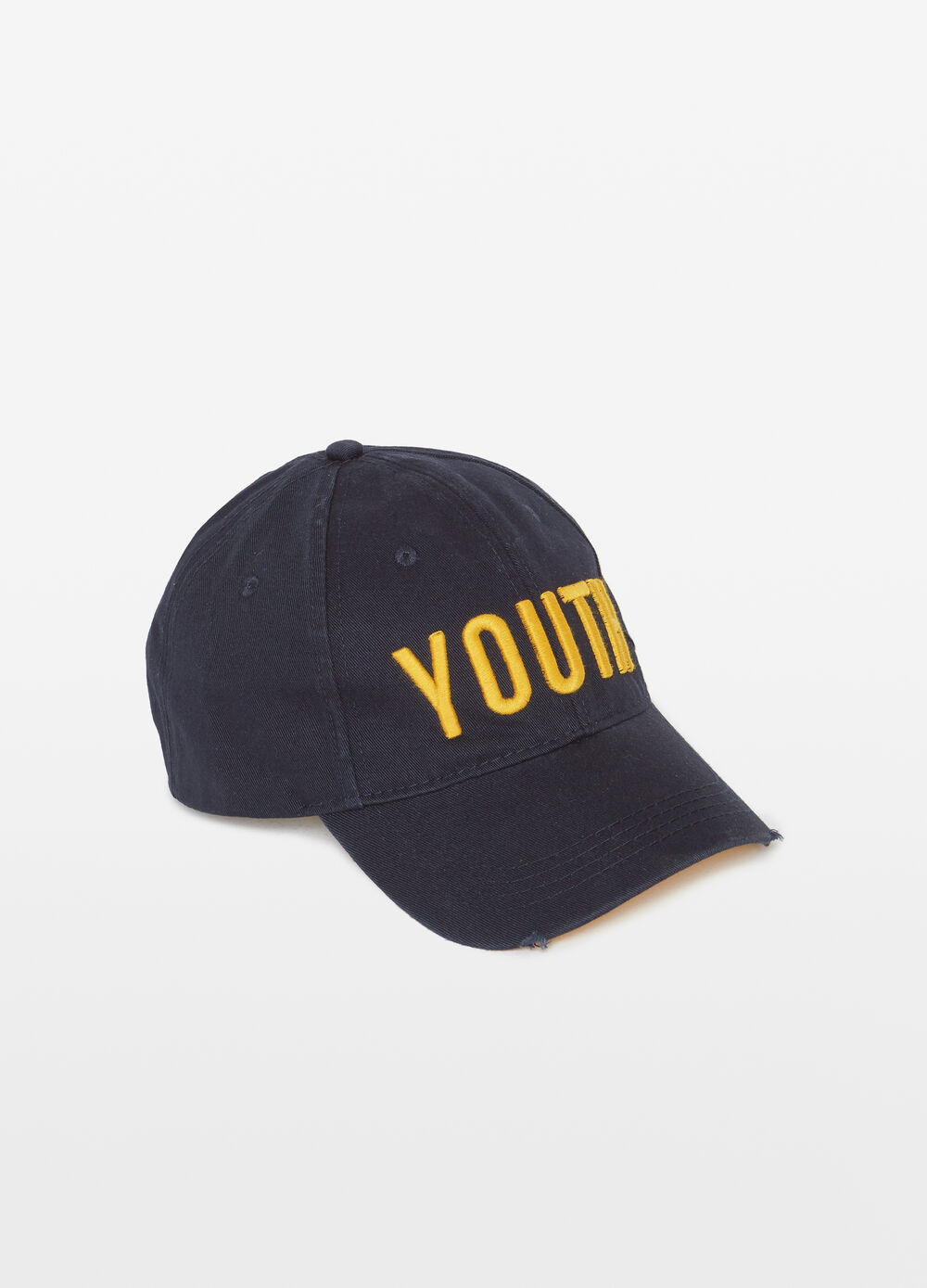 Baseball cap with lettering embroidery