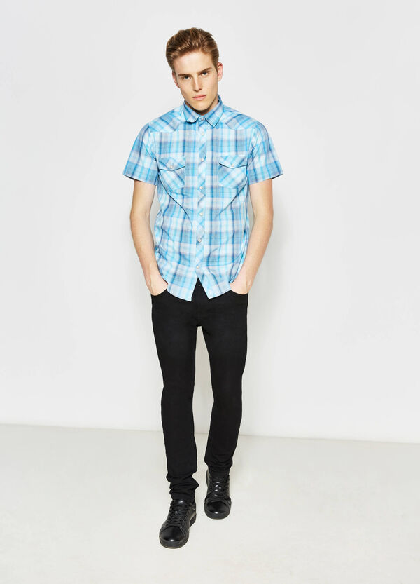 G&H short-sleeved tartan shirt | OVS