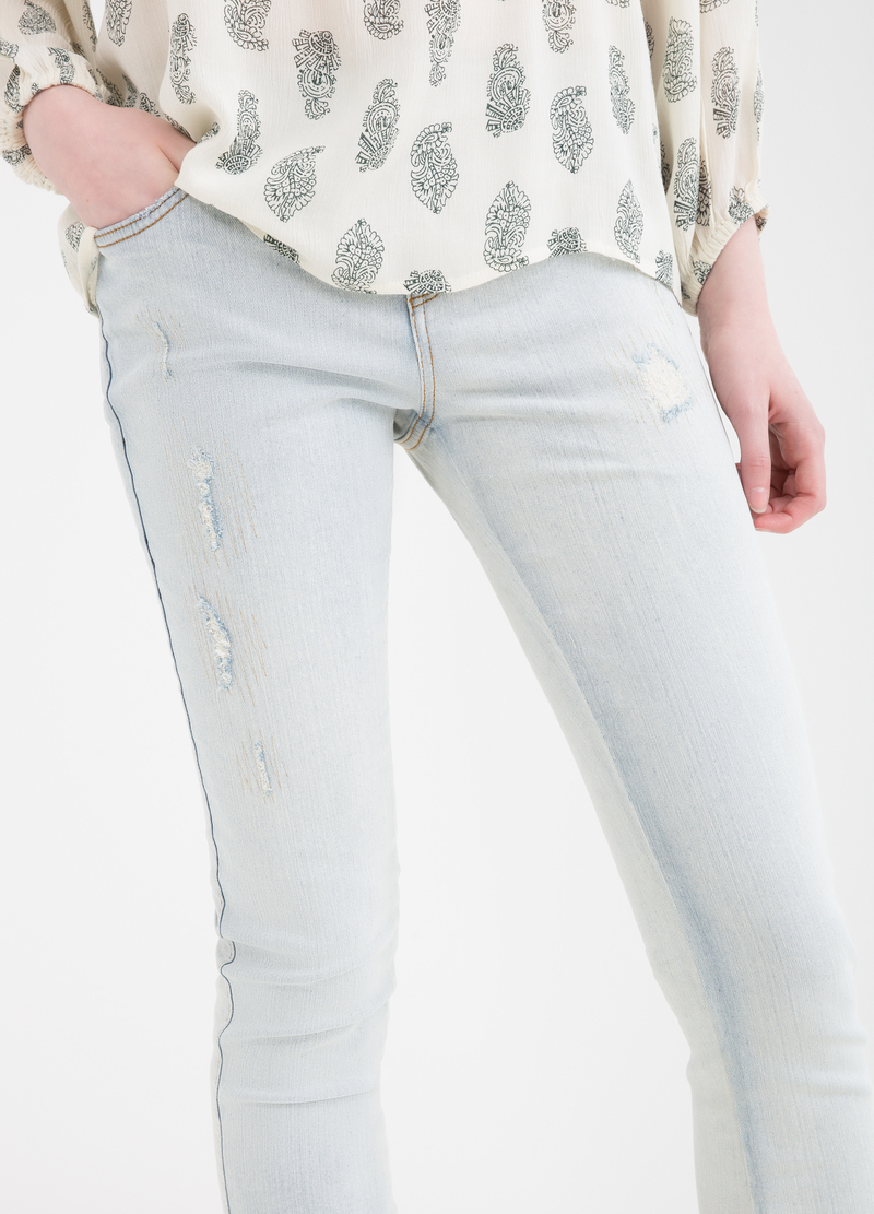 Jeans skinny fit stretch abrasioni image number null