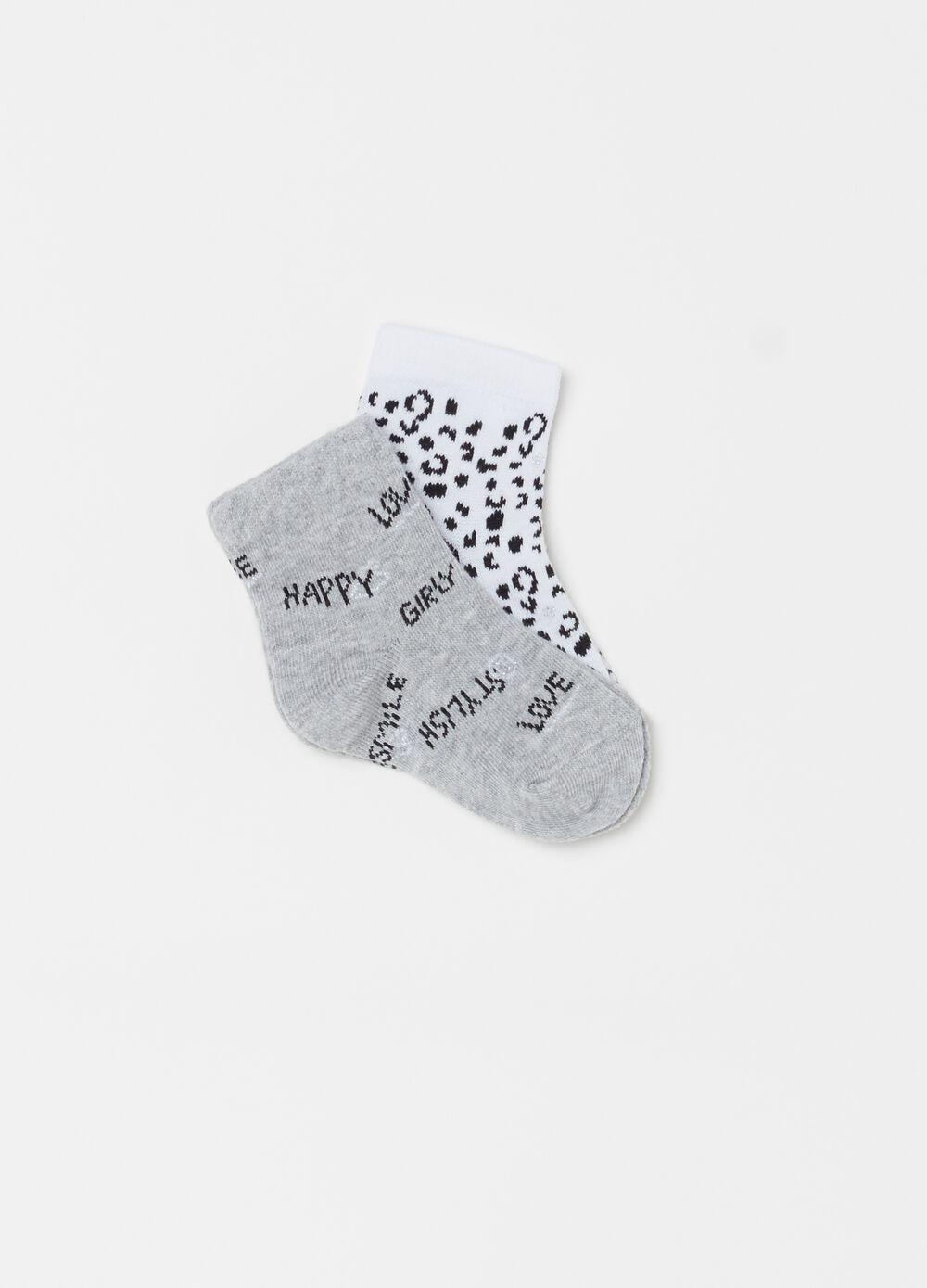 Two-pack short patterned socks