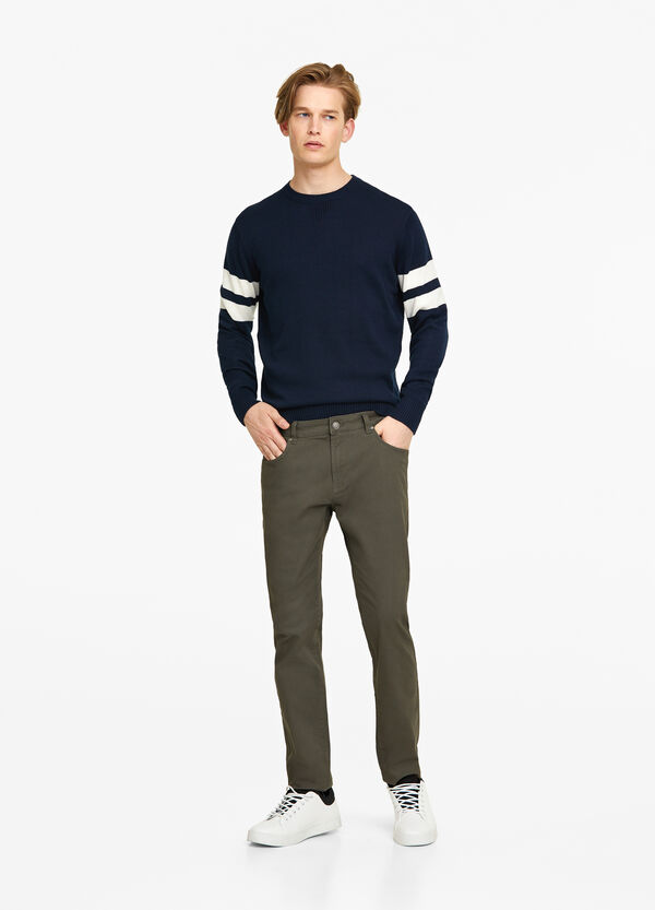 Pantaloni slim fit cotone stretch