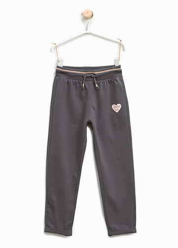 Joggers with hearts print
