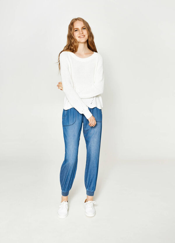 Jeggings jogger fit delavati