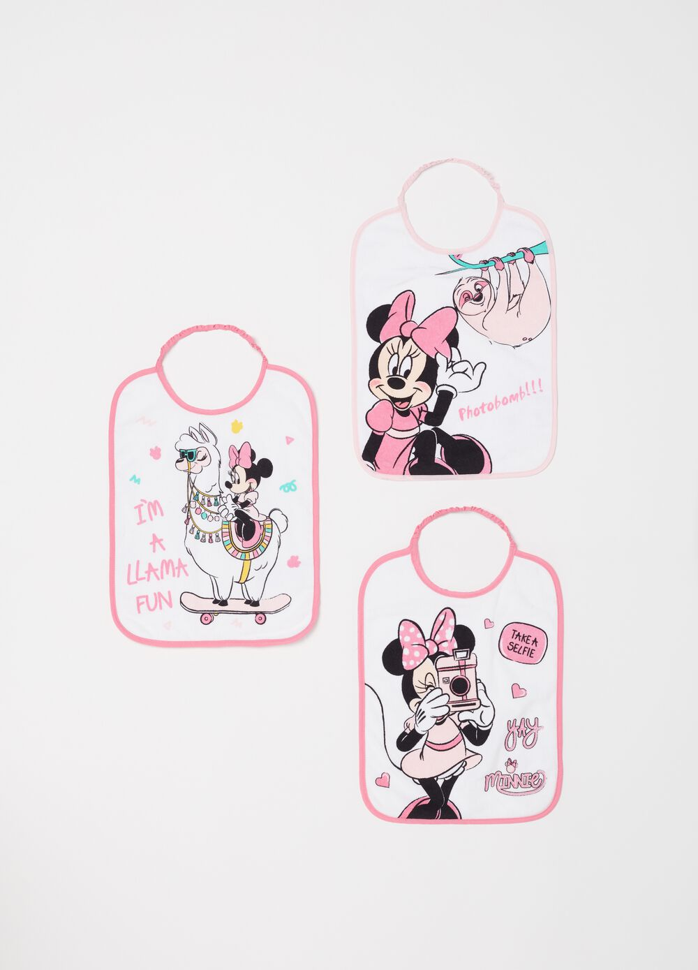 Set tre bavette Disney Minnie