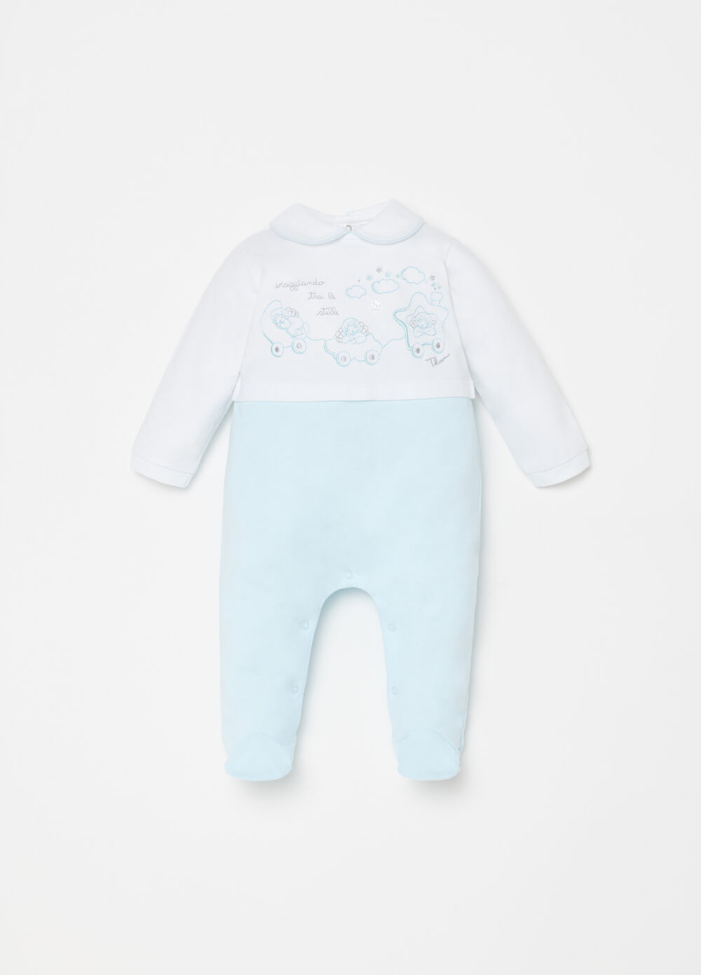 THUN onesie with round collar and feet
