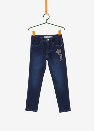 Super-skinny-fit stretch jeans with studs