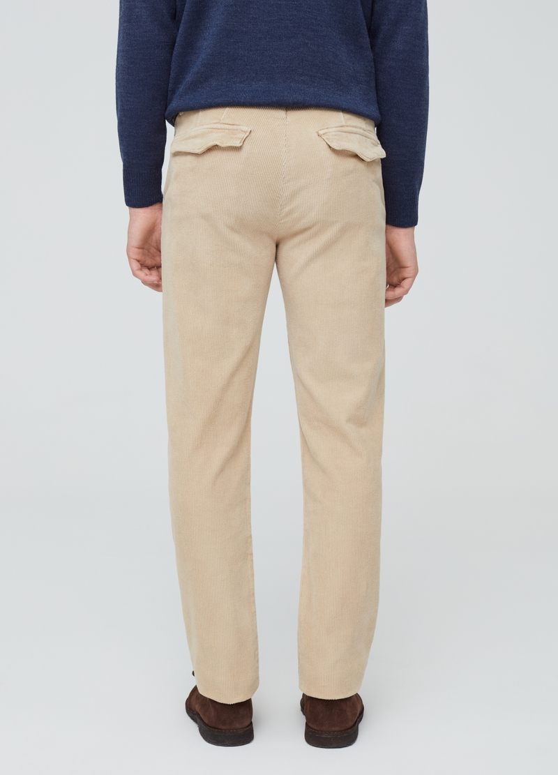 Stretch corduroy chino trousers image number null