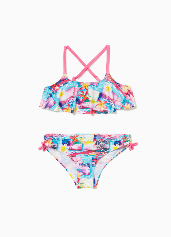 Stretch bikini with lettering by Maui and Sons