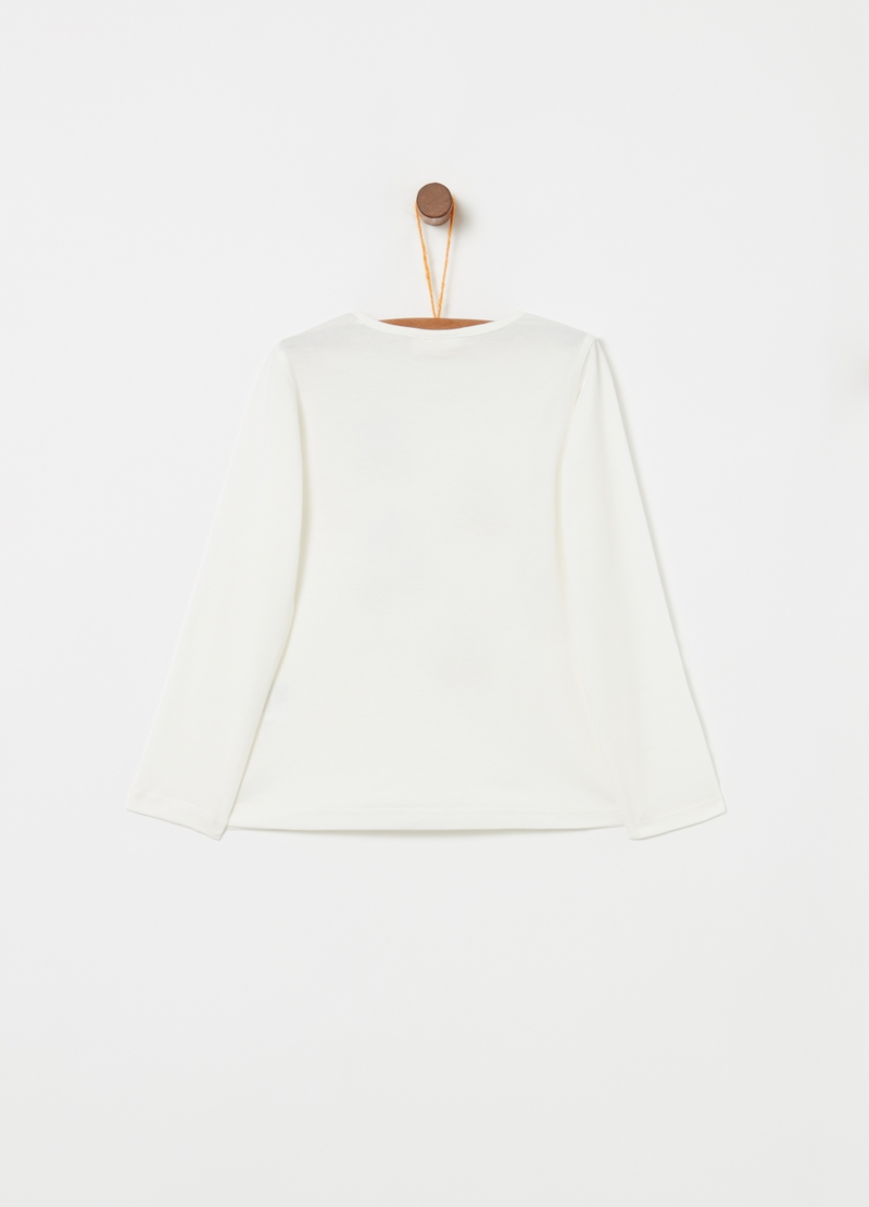 T-shirt puro cotone con stampa ciliegie image number null