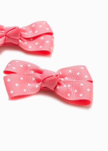 Two-pack hair clips with bow