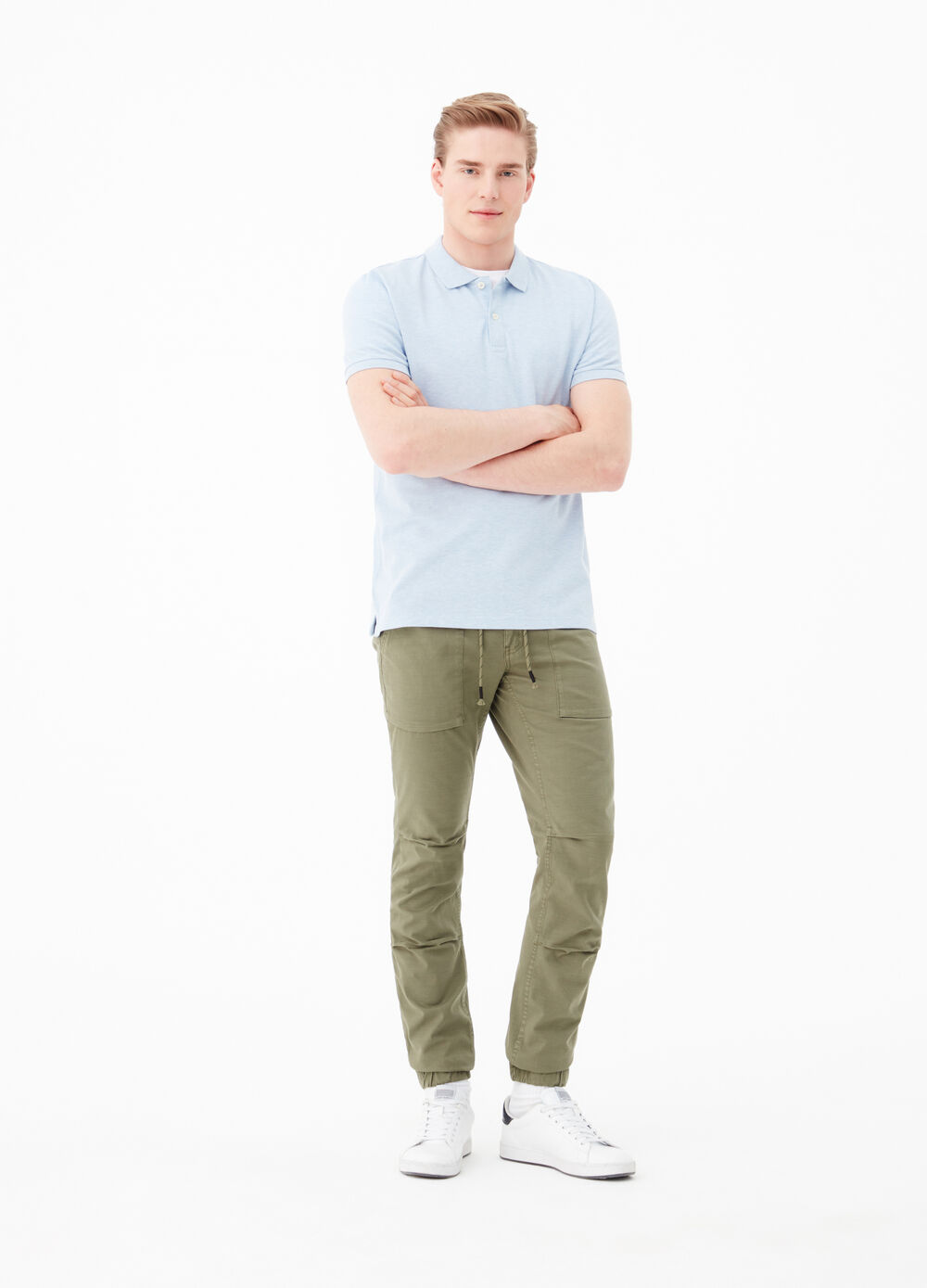 Jeans slim fit stretch con coulisse