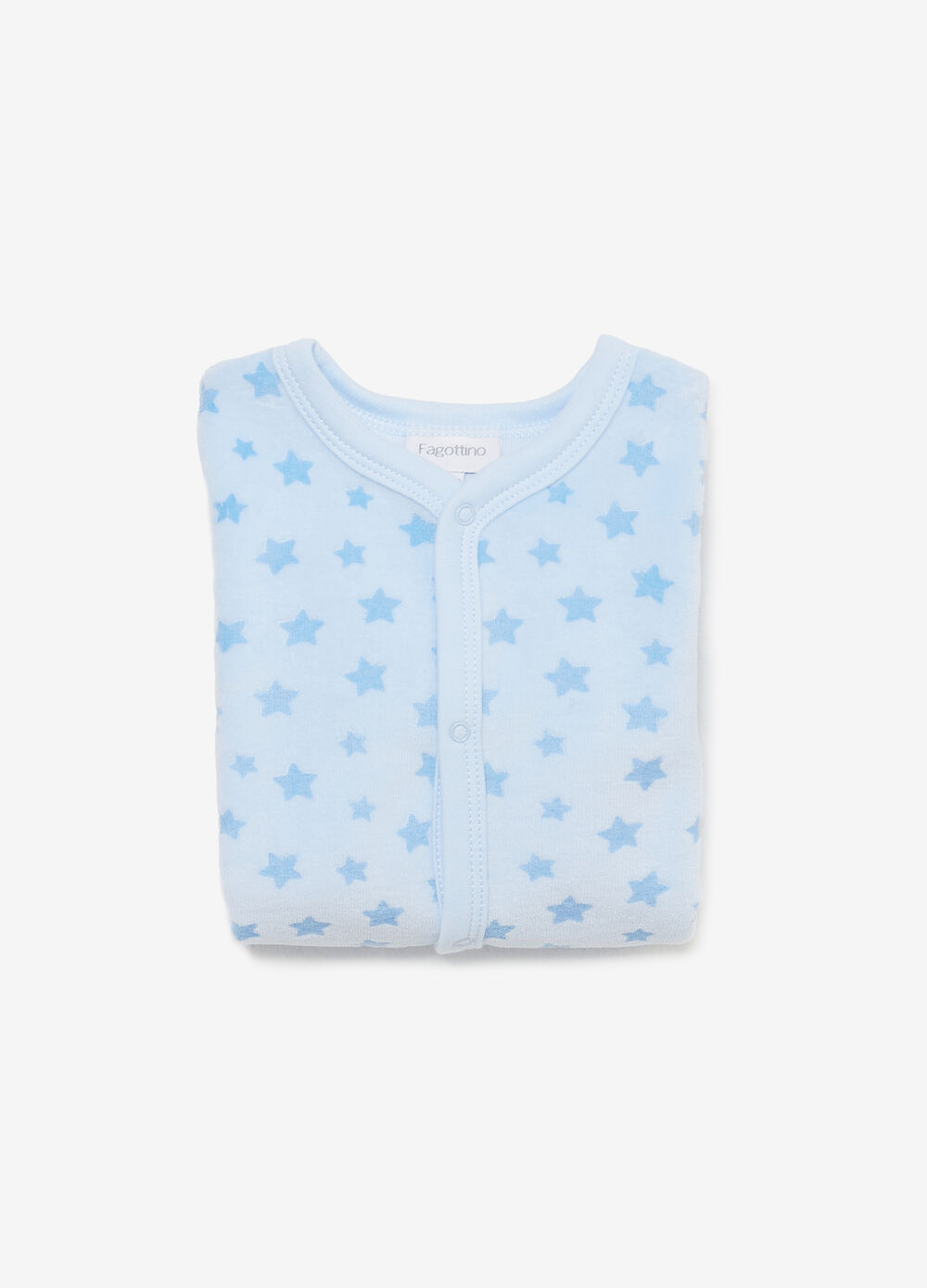 BCI cotton blend onesie with stars pattern