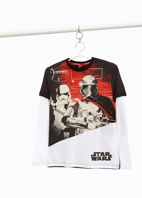 T-shirt puro cotone bicolore Star Wars