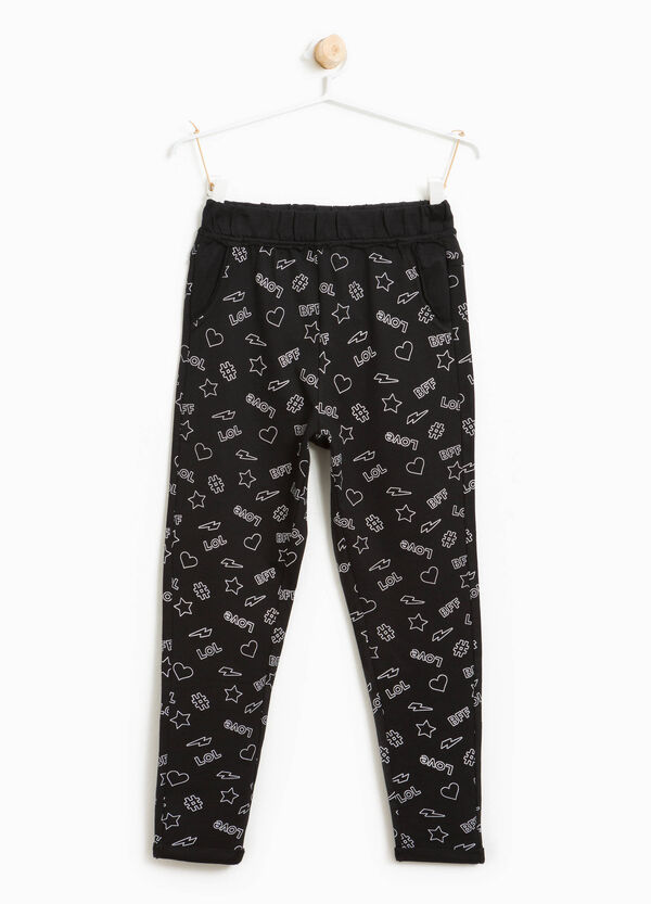 100% cotton printed joggers | OVS