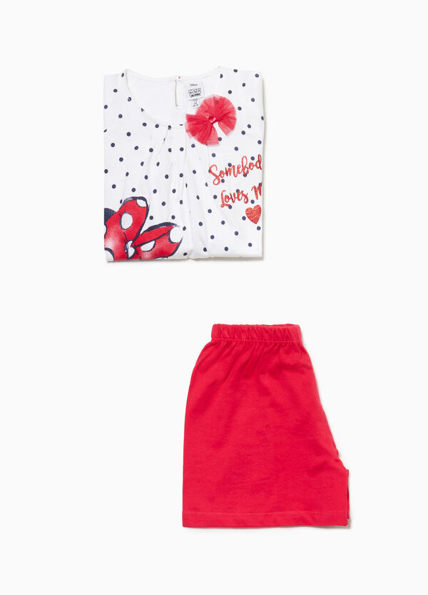 Polka dot Minnie Mouse pyjamas in 100% cotton