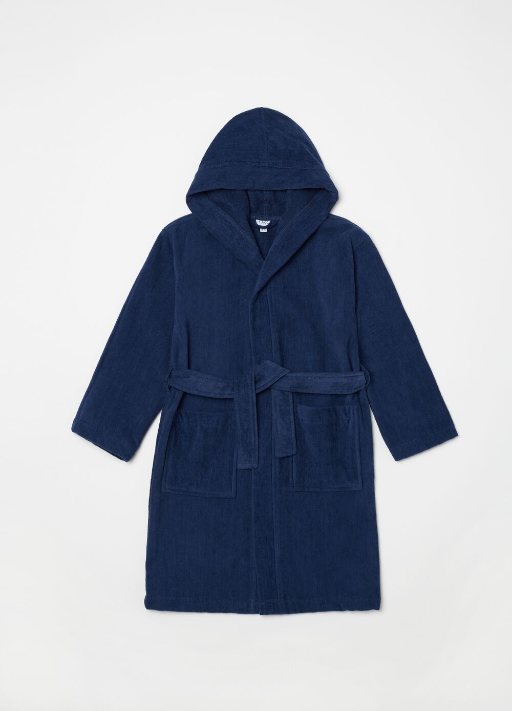 100% cotton robe with pockets