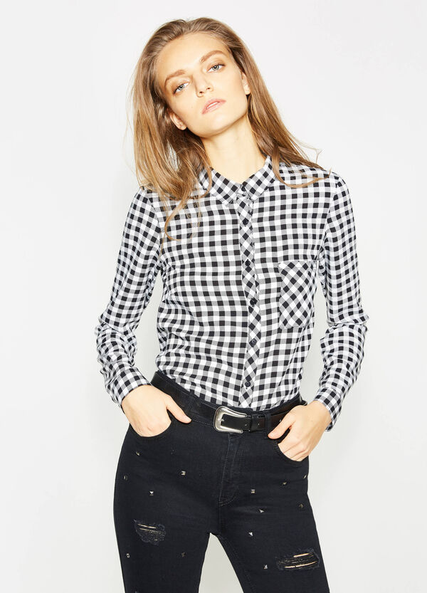 Viscose shirt with all-over print | OVS
