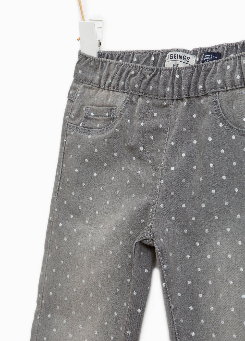 Jeggings stretch devalati a pois