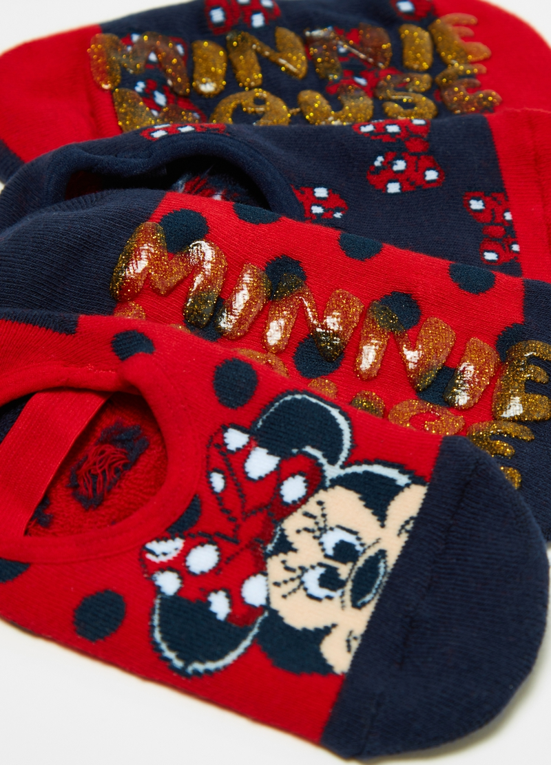 Two-pair pack Disney Minnie Mouse slipper socks image number null
