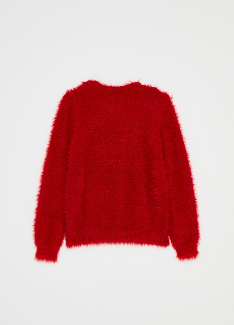 Pullover girocollo con lurex image number null