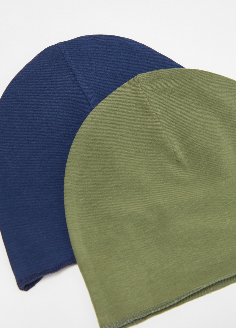 Two-pack stretch cotton hat image number null