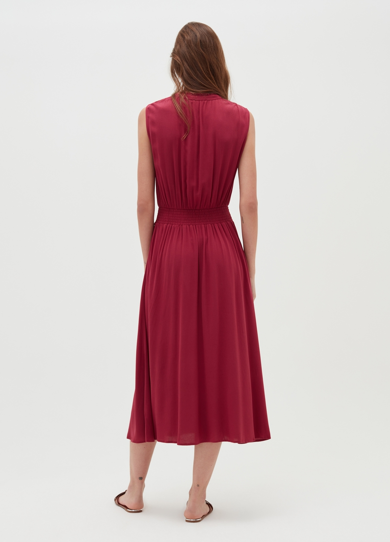 Draped dress in viscose image number null