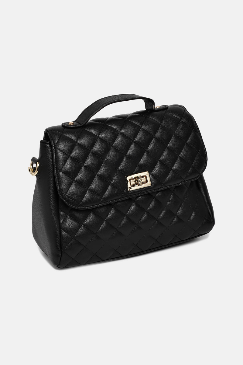 Quilted bag with shoulder strap image number null