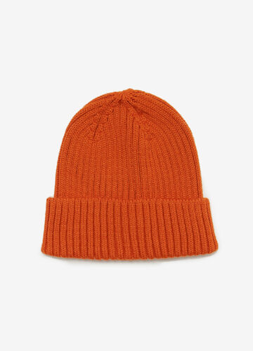 Solid colour ribbed beanie cap