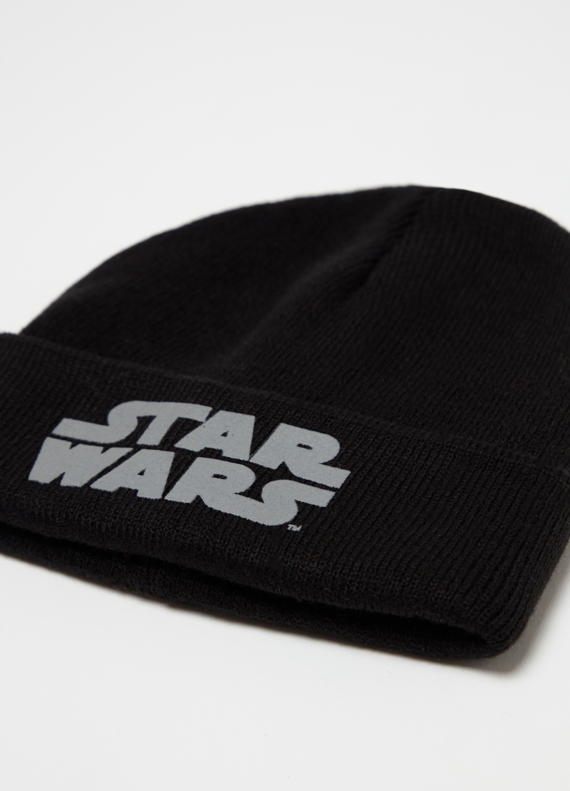 Knitted Star Wars hat with fold image number null