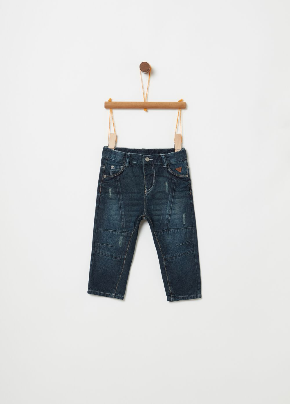 Regular-fit jeans with teddy bear ears