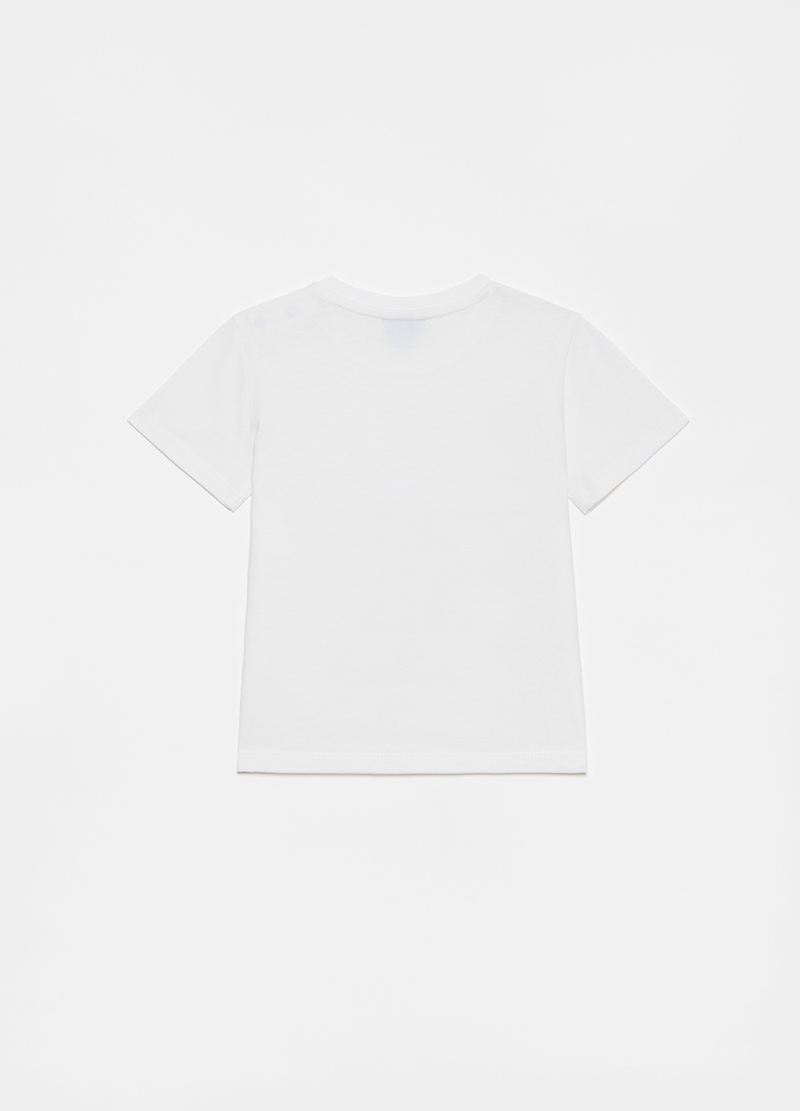 Cotton T-shirt with vintage car print image number null