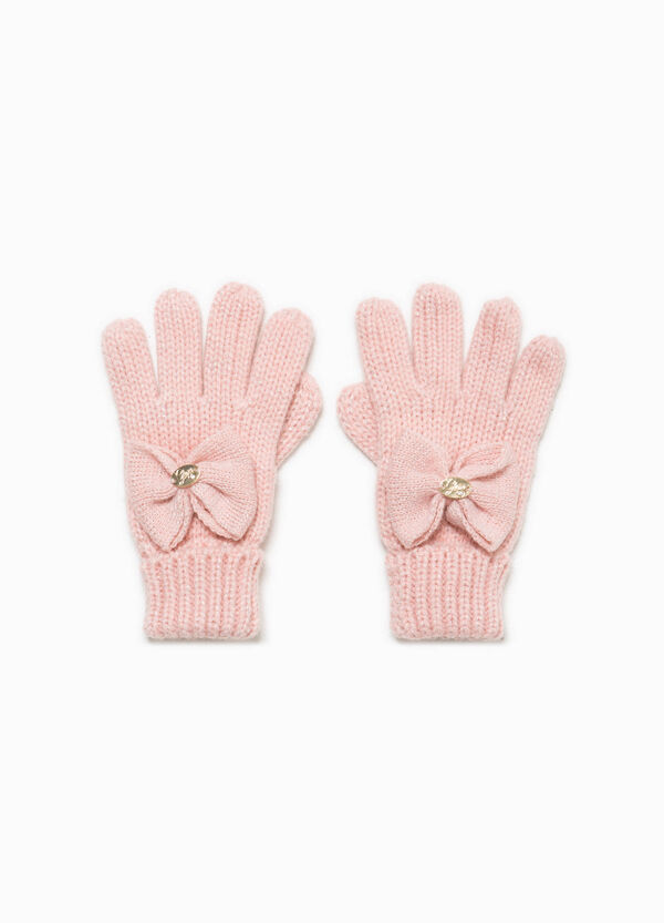 Knitted gloves with bow | OVS
