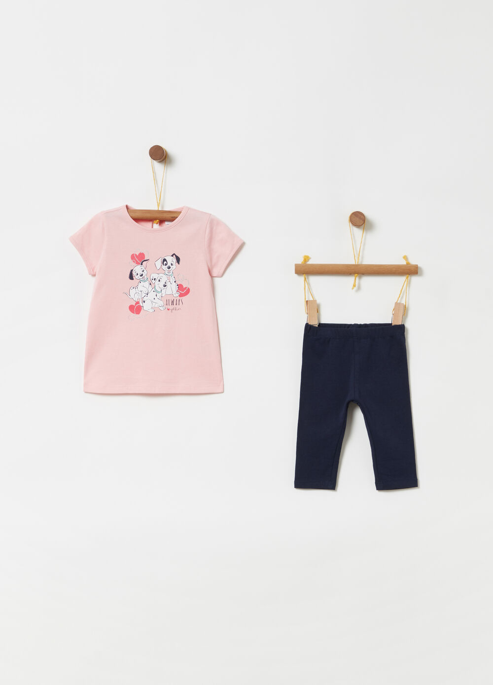 Jogging set t-shirt leggings Disney Baby