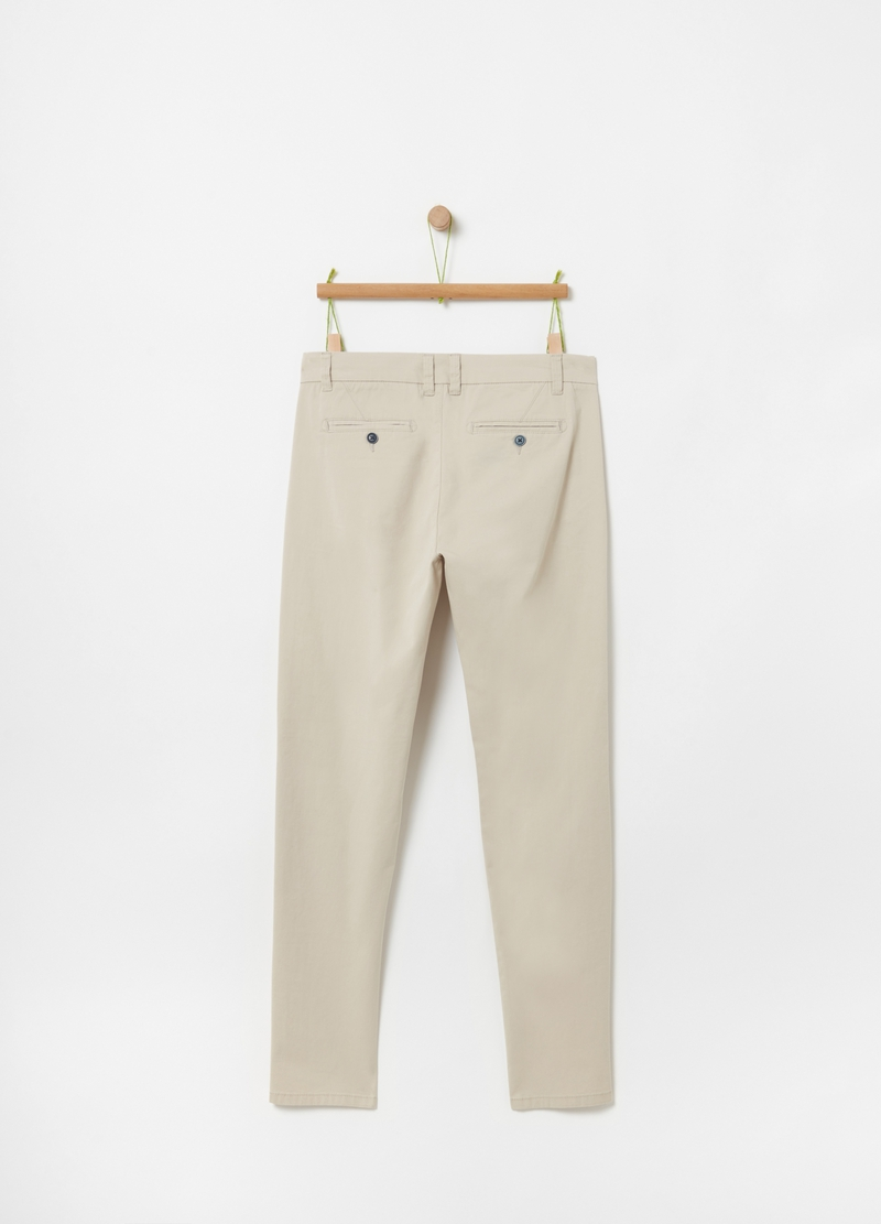 Twill chino trousers image number null