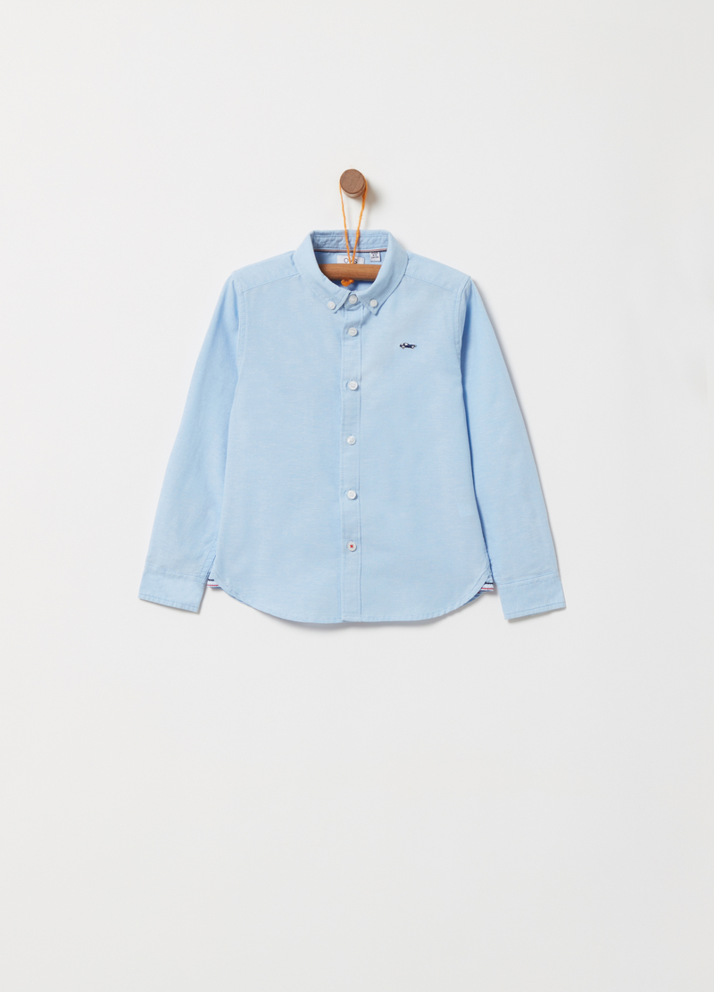 Oxford shirt with contrasting details image number null