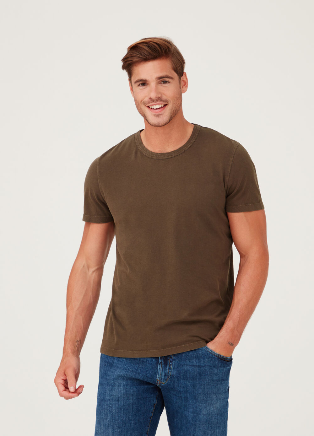 Biocotton premium T-shirt with round neck